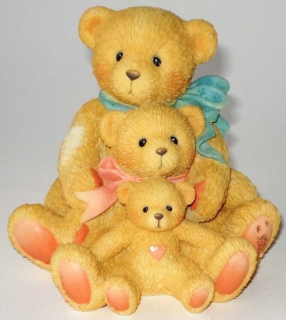 Cherished Teddies: Theadore, Samantha and Tyler -