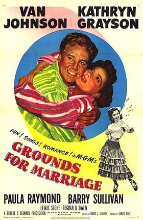 Image result for photos from GROUNDS FOR MARRIAGE, 1951, with van johnson and kathryn grayson